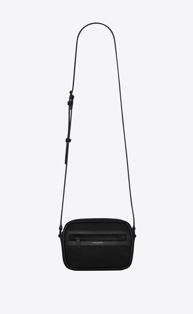 camp small camera bag in nylon and lambskin