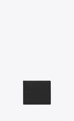 le monogramme all over portefeuille east/west avec porte-monnaie en cuir embossé ysl