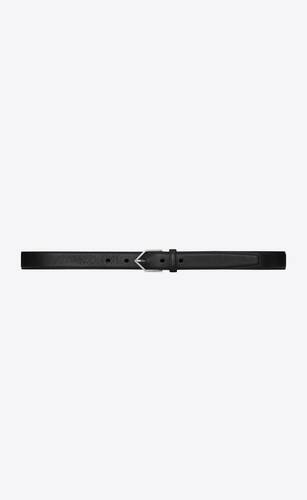 triangle buckle belt in black leather