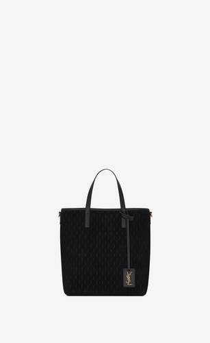 toy le monogramme saint laurent n/s shopping bag in suede e morbida pelle