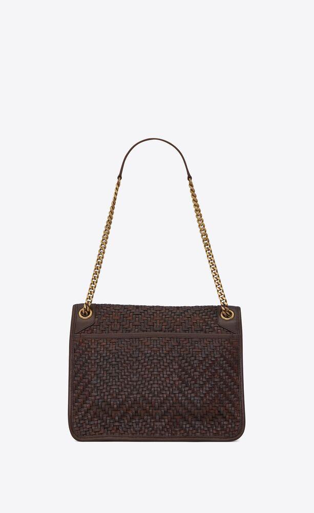 niki medium in matte woven leather