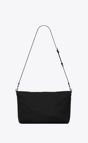 bolso shopper plegable ethan de lona y piel lisa