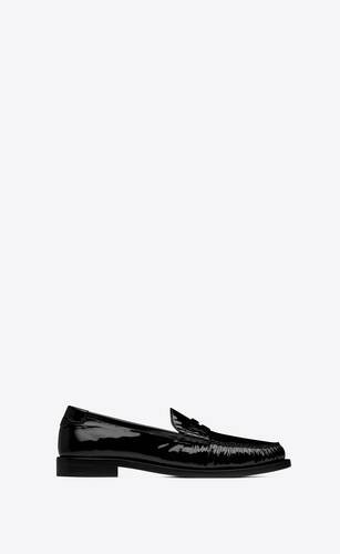 le loafer monogram penny slippers in patent leather