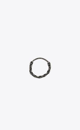 saint laurent id plaque ring in metal