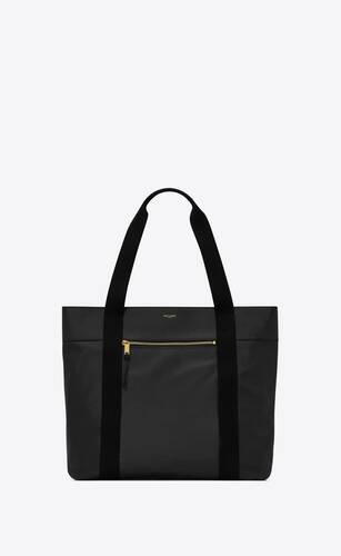 daily cabas small shopping bag in vintage leather and cotton