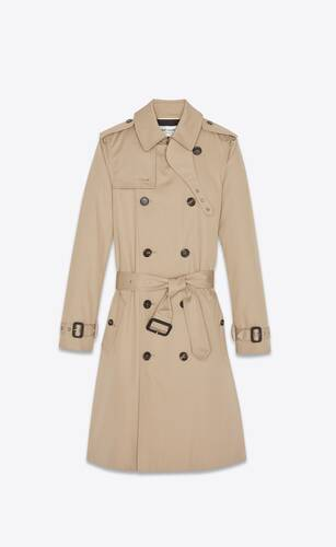 trench saint laurent in gabardine
