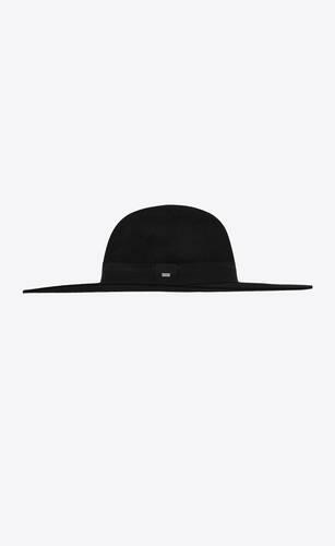 asymmetrical hat in rabbit felt