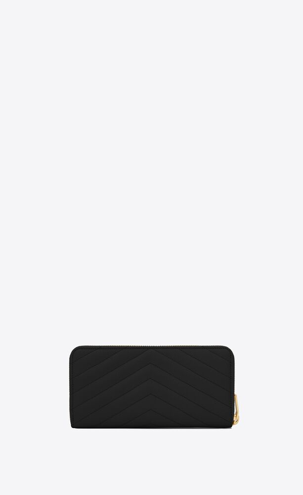portafogli  nero pelle a texture con zip