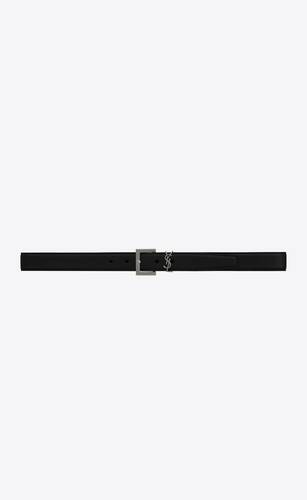 monogram belt in grained leather