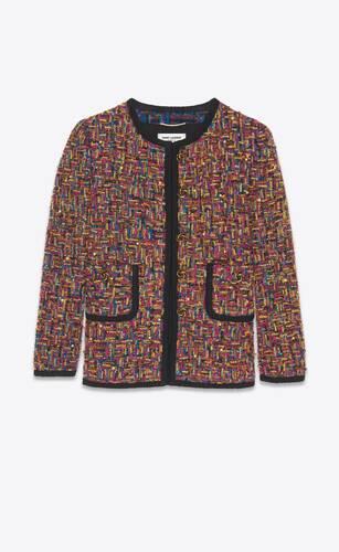 short jacket in bouclé tweed