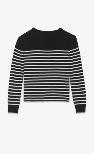 high-neck sweater in a sailor knit