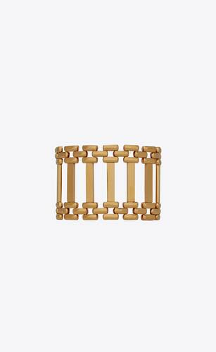 panther-chain crossbar bracelet in 18k yellow gold