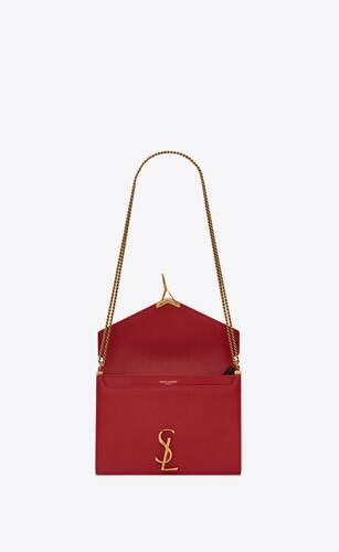 cassandra monogram clasp bag in grain de poudre embossed leather