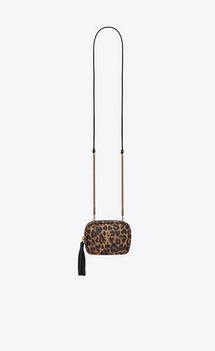 lou baby bag in heart-shaped leopard-print leather