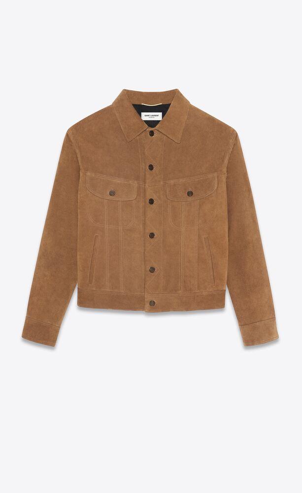 80's denim jacket in suede