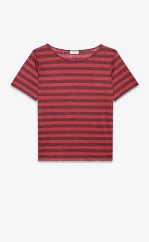dégradé-striped boyfriend t-shirt