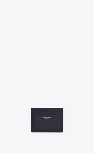 porte-cartes en cuir embossé grain de poudre