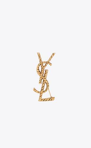 opyum ysl twisted brooch in metal