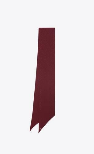 dotted monogram lavallière scarf in silk jacquard