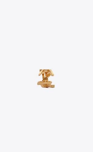 monogram ear cuff in metal