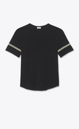 """saint laurent"" '50s signature destroyed t-shirt"
