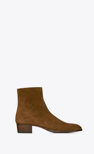 wyatt zipped boots in suede