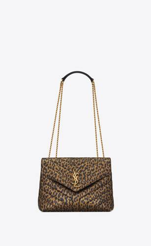 loulou small bag in y-quilted metallic leopard-print leather