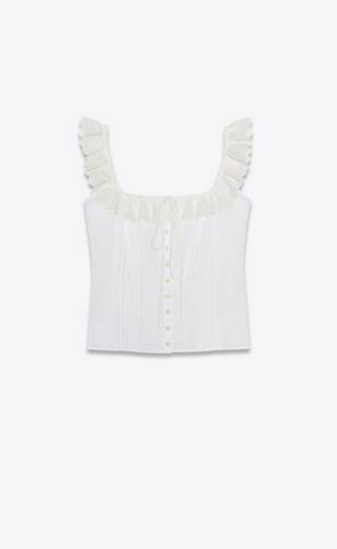 broderie anglaise tank top in cotton voile