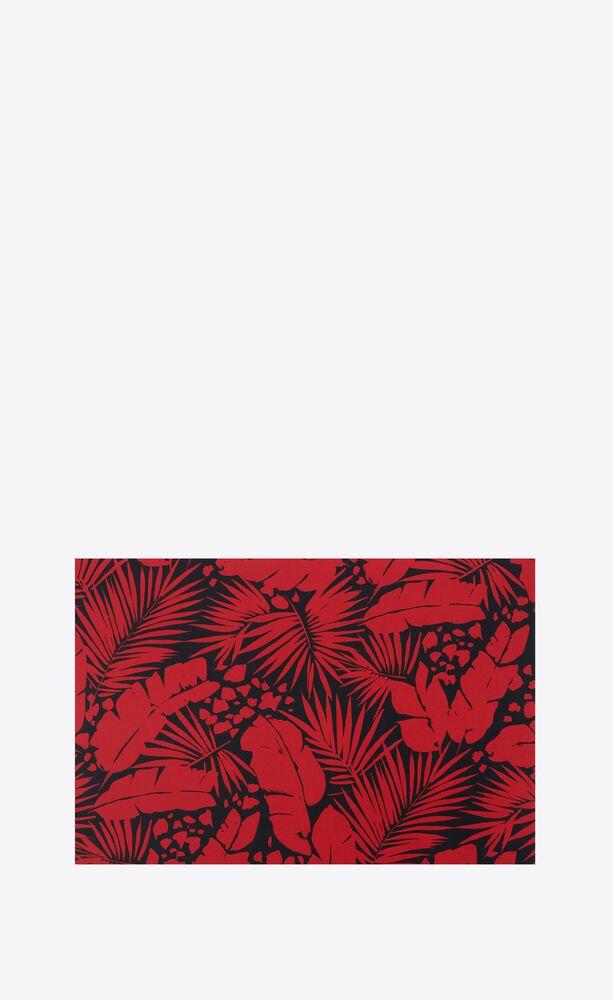 tropical print postcard
