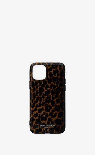 iphone 11 pro case in leopard printed silicone
