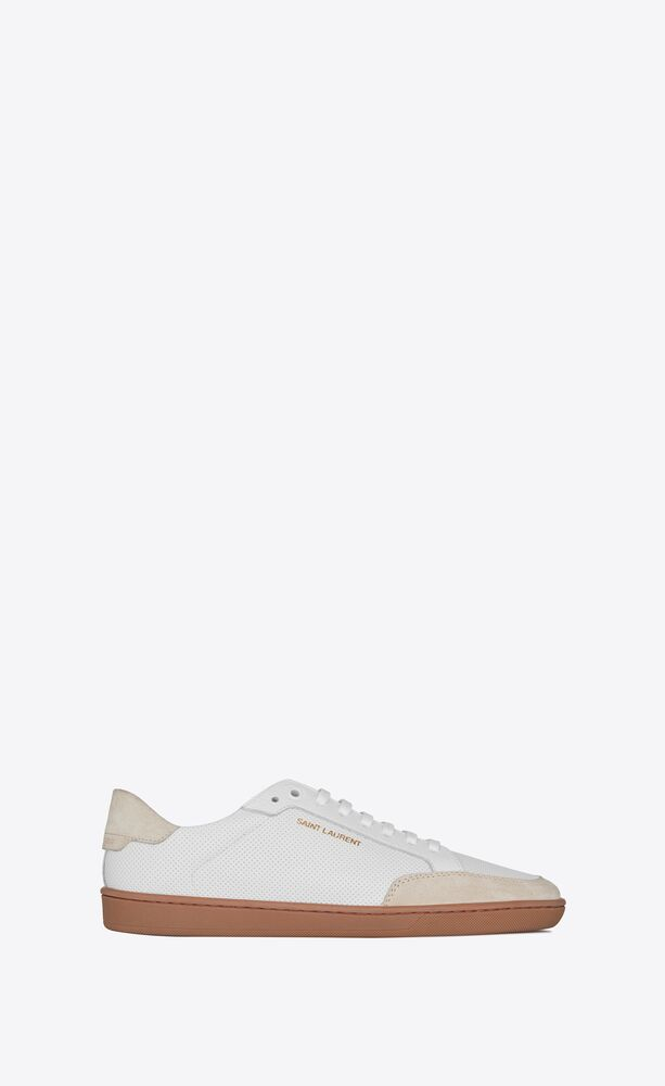 court classic sl/10 sneakers in perforated leather and suede
