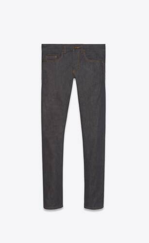 slim-fit jeans in indigo raw denim