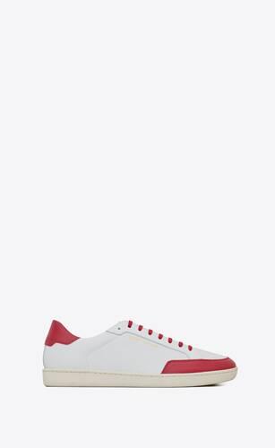 sneakers court classicsl/10 de piel perforada y piel granulada