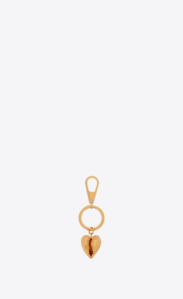 heart seashell key ring