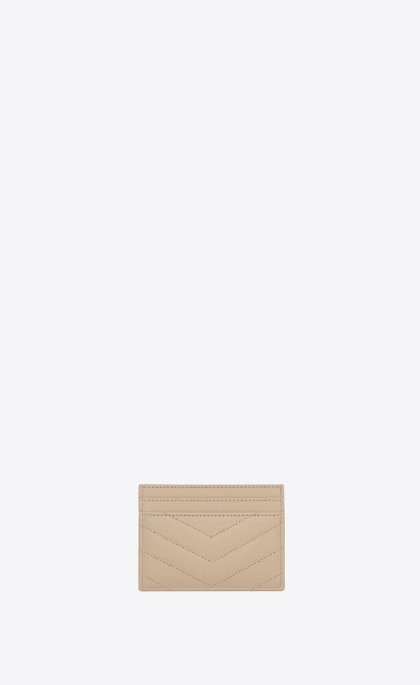 monogram card case in grain de poudre embossed leather