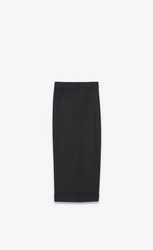 tailored bermuda shorts in wool gabardine