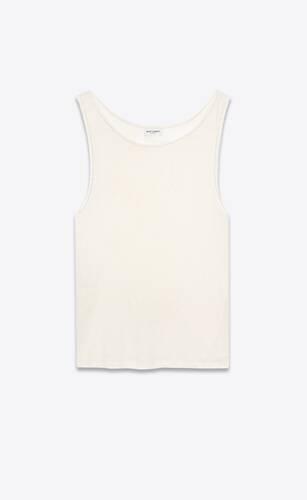 tank top in linen jersey