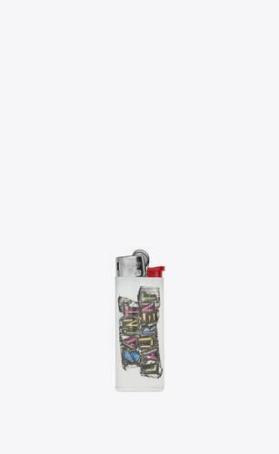 """saint laurent felt tip"" print lighter"