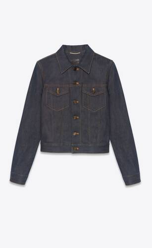 classic jacket in indigo raw denim