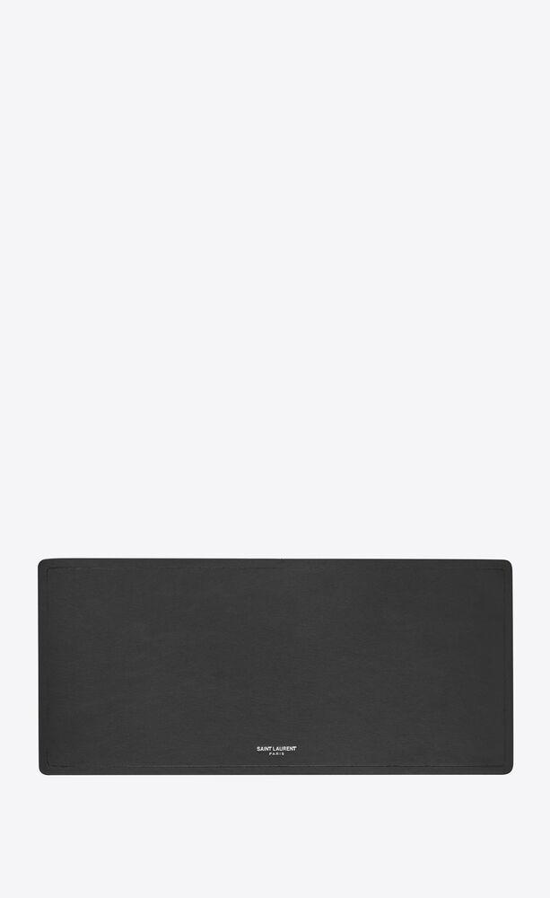 tapis de clavier en cuir