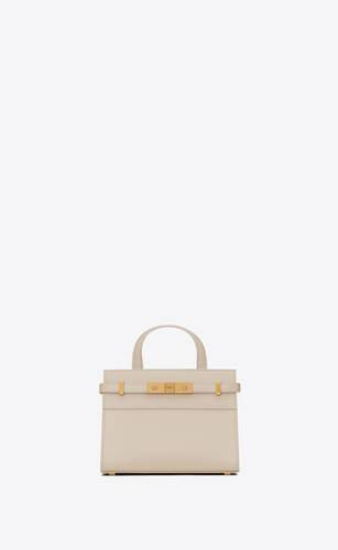 manhattan shopping bag nano en cuir box saint laurent
