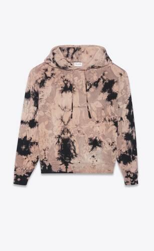 tie-dye saint laurent logo hoodie