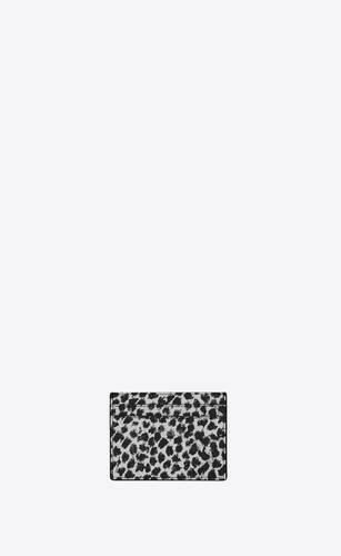 サンローランパリ クレジットカードケース(レオパード柄レザー)
