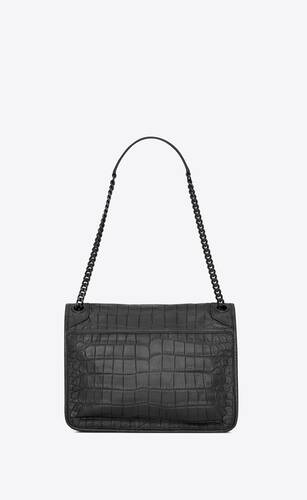 niki medium in soft crocodile-embossed leather