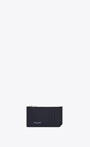 fragments porte-cartes zippé en cuir embossé grain de poudre