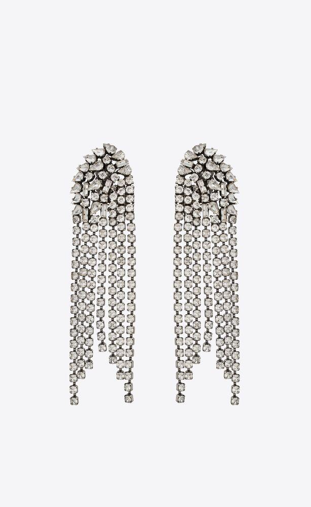 cascade earrings in metal