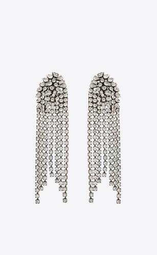 boucles d'oreilles en cascade en métal