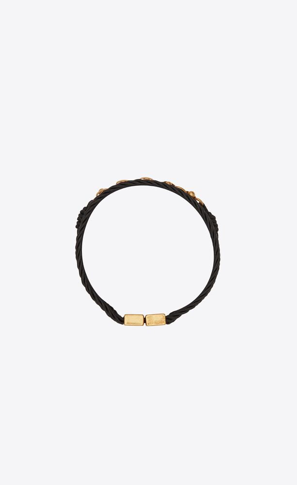 passementerie and beaded chain bracelet