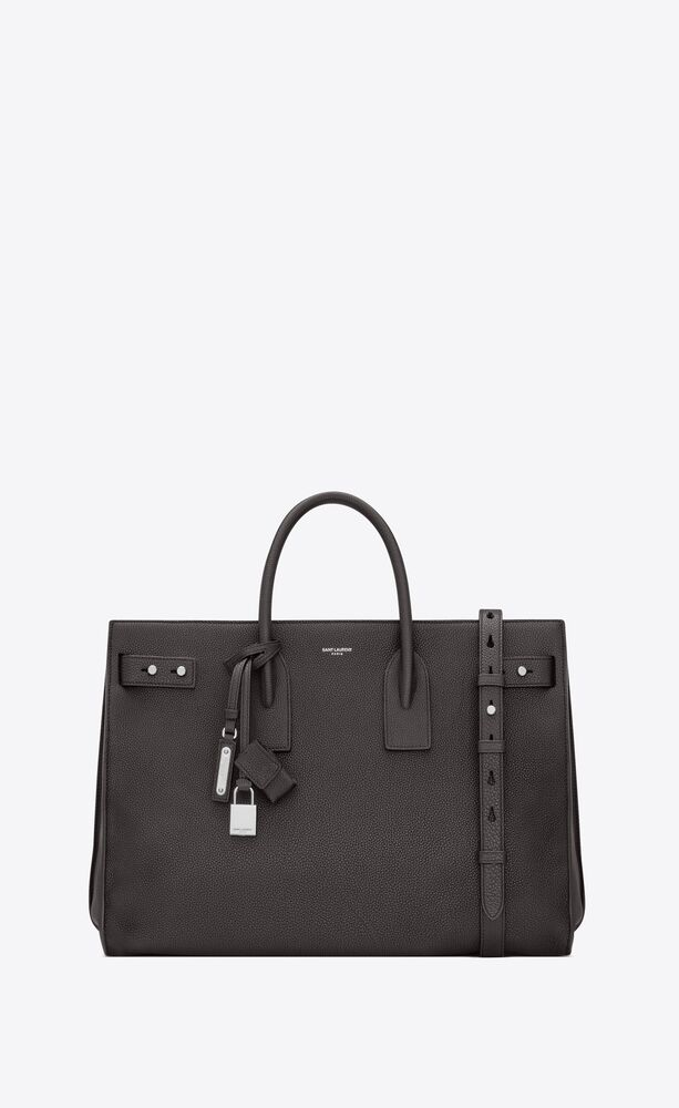 sac de jour thin large in grained leather