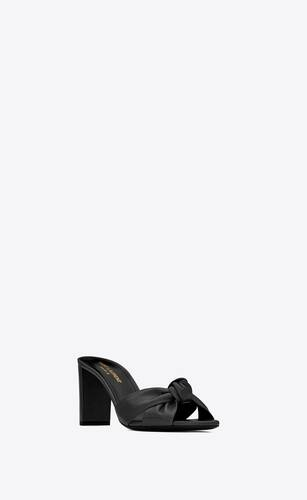 bianca mules in smooth leather